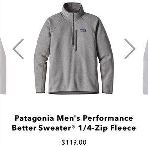 Patagonia Men's Performance Sweater 1/4-Zip Fleece